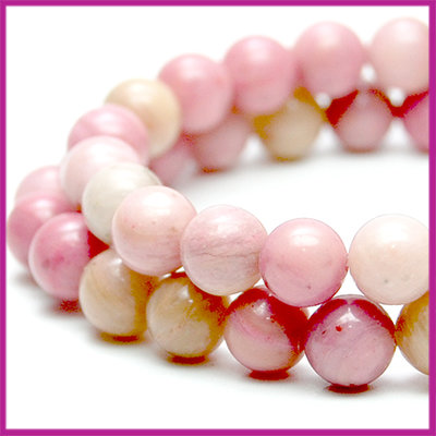 Pink Wood Jasper rond Ø6mm