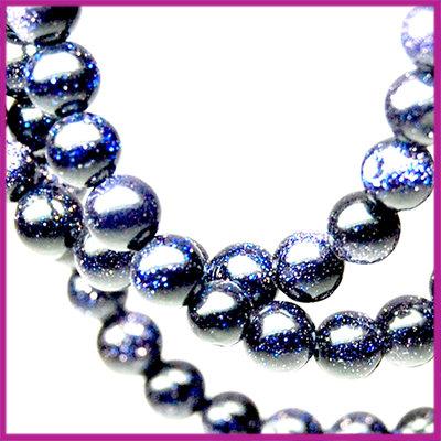 Goudsteen blauw Ø4 mm