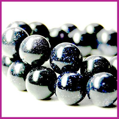 Goudsteen blauw ø7 mm