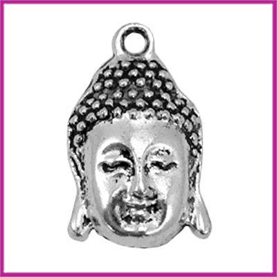 Metaal bedel Boeddha 28x19mm Antiek zilver