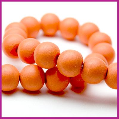 Houten kraal mat rond Ø8mm Oranje