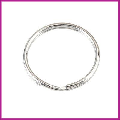 Sleutelhanger ring metaal Ø30mm Antiek zilver