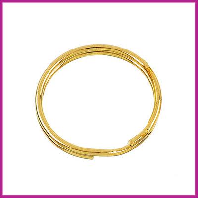 Sleutelhanger ring metaal Ø30mm Goudkleur