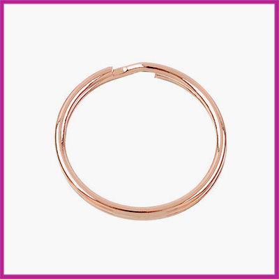 Sleutelhanger ring metaal Ø30mm Rosegold