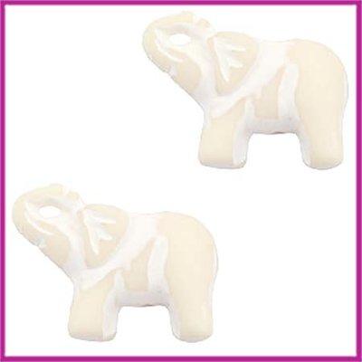 DQ acryl kraal olifantje beige