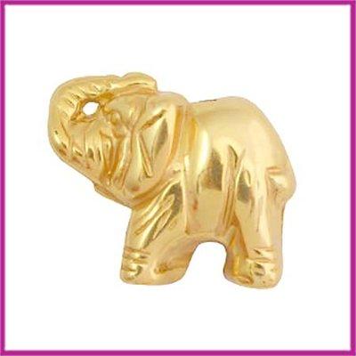 DQ acryl kraal olifant metaallook goud
