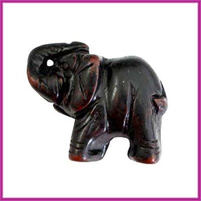 DQ acryl kraal olifant zwart-bruin