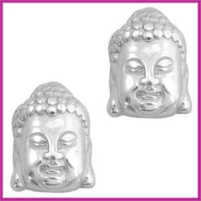 DQ acryl kraal metaallook Buddha klein zilver