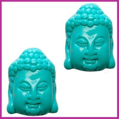 DQ acryl kraal Buddha klein turquoise