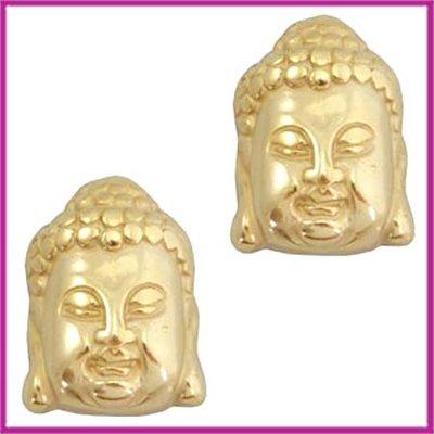 DQ acryl kraal metaallook Buddha klein goud