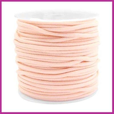 Gekleurd elastisch draad Ø2,5mm Pastel peach