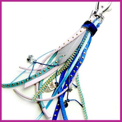 DIY pakketje tashanger donker blauw lila