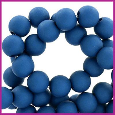 Acryl kraal mat rond 6mm Harbour Blue