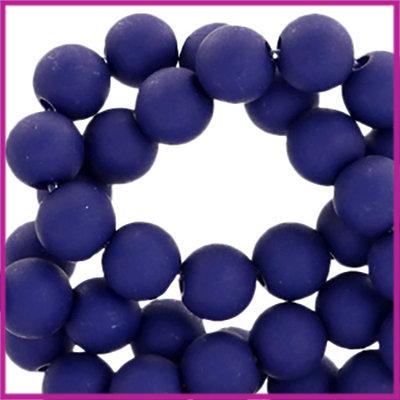 Acryl kraal mat rond 6mm Royal Blue