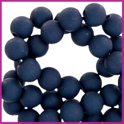 Acryl kraal mat rond 6mm Prusian Blue