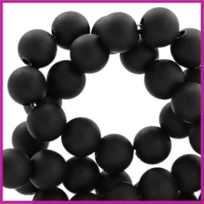Acryl kraal mat rond 6mm Deep Black