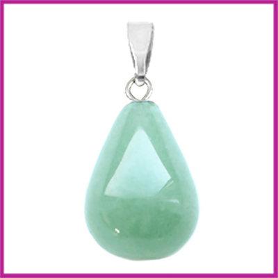 Edelsteen hanger druppel Green jade