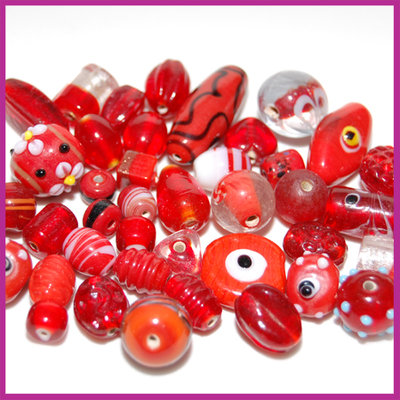 Glasmix Fancy rood