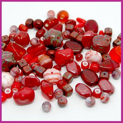 Glasmix deluxe rood