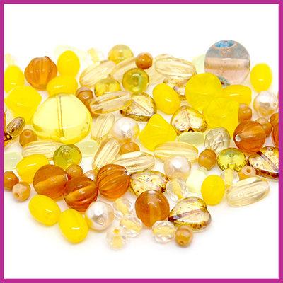 Glasmix deluxe oker geel