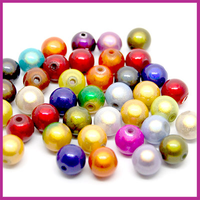 Kunststof kralenmix miracle 3D Ø10mm multicolor