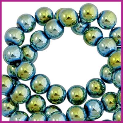 Hematiet kralen rond 4mm Indicolite blue