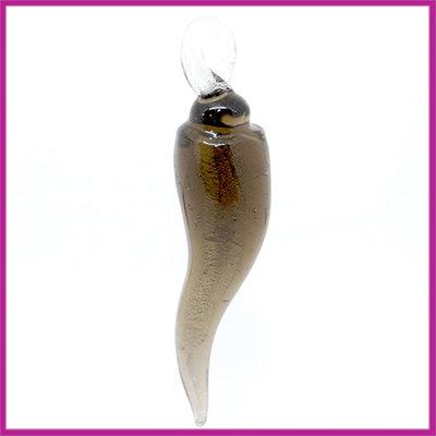 Glashanger langwerpige pegel antraciet
