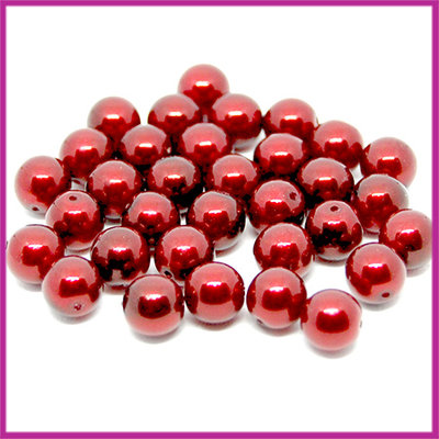 Glasparel Ø8mm dark ruby red