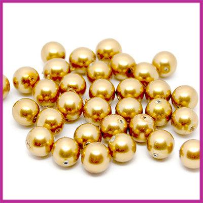 Glasparel Ø8mm goud bruin