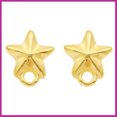 DQ metaal earpin / oorsteker zeester Goud