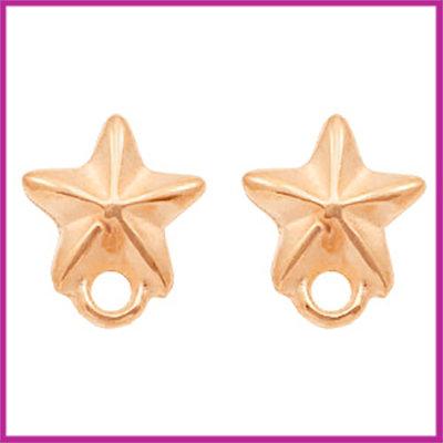 DQ metaal earpin / oorsteker zeester Rosegold