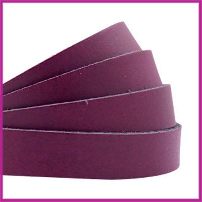 DQ plat leer 10mm aubergine red ca. 21cm