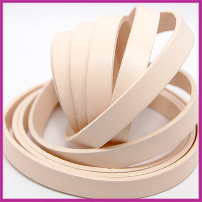 Basic quality plat leer 10mm silk peach ca. 20cm