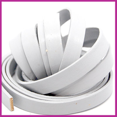 Basic quality plat leer 10mm soft grey ca. 20cm