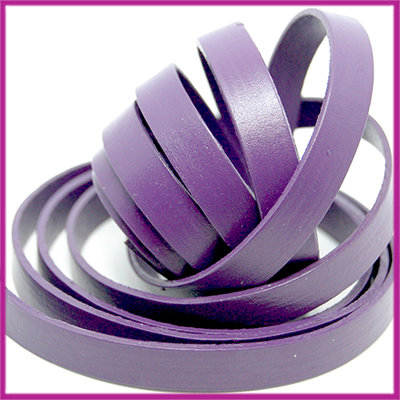 Basic quality plat leer 10mm royal purple ca. 20cm