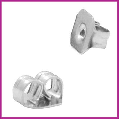 Oorbel stopper / achterkantje Antiek zilver
