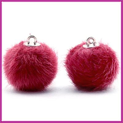 Pompom bedel faux fur 16mm Cherish pink