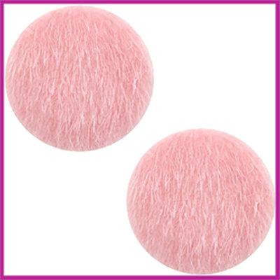 Fluffy faux fur cabochon plaksteen Ø12mm vintage pink