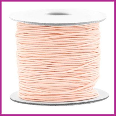 Gekleurd elastisch draad Ø0,8mm per meter Light peach