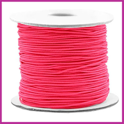 Gekleurd elastisch draad Ø0,8mm per meter Fluor rose
