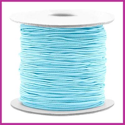 Gekleurd elastisch draad Ø0,8mm per meter Light blue