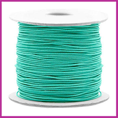 Gekleurd elastisch draad Ø0,8mm per meter Turquoise green