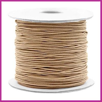 Gekleurd elastisch draad Ø0,8mm per meter Taupe brown