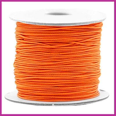 Gekleurd elastisch draad Ø0,8mm per meter Vibrant orange