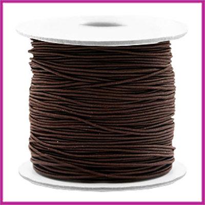 Gekleurd elastisch draad Ø0,8mm per meter Dark brown