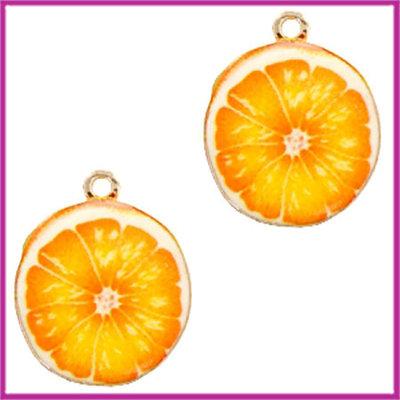 BQ metalen bedel sinaasappel goud - oranje