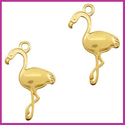 DQ metaal bedel flamingo Goud