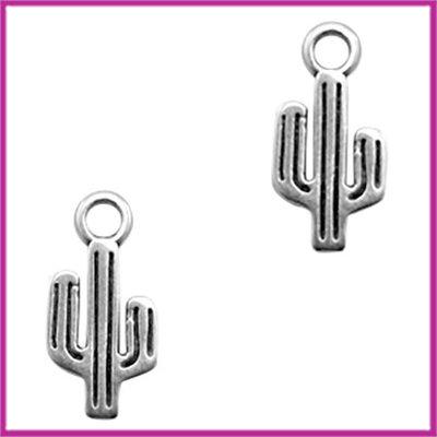 DQ metaal bedel cactus Antiek zilver