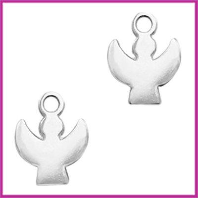 DQ metaal bedel engeltje Antiek zilver