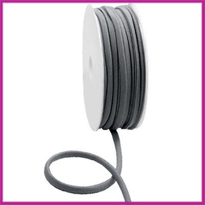 Ibiza stitched elastisch lint per 10cm Antraciet grey